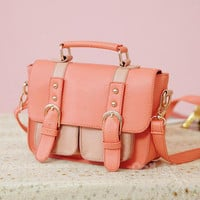 YESSTYLE: PG Beauty- Buckled Satchel (Dark Pink - One Size) - Free International Shipping on orders over $150