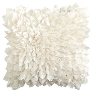 Floral Bloom Pillow - Ivory
