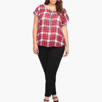 Plaid Dolman Soft Shirt