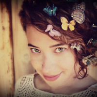 Butterfly Hair Pins Made to Order for your Color preferences PAIR