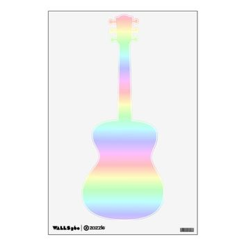 Guitar Pastel Rainbow Wall Decal