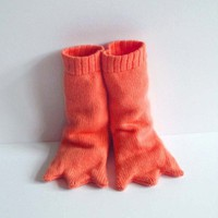 Handmade Knitted Bird Leg Booties Long by TheMiniatureKnitShop