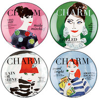 Buy Kate Spade Make Headlines Tidbit Plates, Set of 4 online at JohnLewis.com