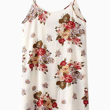 Cami Dress in Floral Print - Choies.com