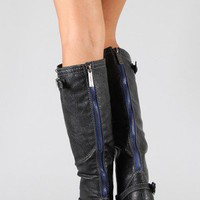 Breckelle Outlaw-81 Buckle Riding Knee High Boot