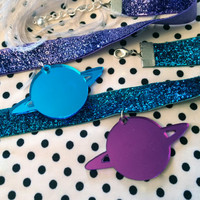 Totally Rad Planet Chokers in Purple and Blue