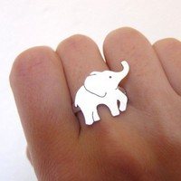 BABY Elephant - Handmade Silver Ring | smilingsilversmith - Jewelry on ArtFire