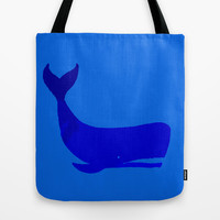 Whale Tote Bag by Good Sense | Society6
