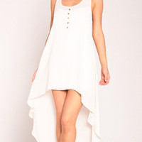 Sleeveless Tail Dress in Ivory