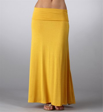 Mustard Yellow Basic Maxi Skirt