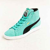 Puma Teal Suede Classic Mid-Top Sneaker - Urban Outfitters