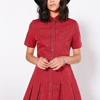 Fred Perry Gingham Check Shirtdress - Urban Outfitters
