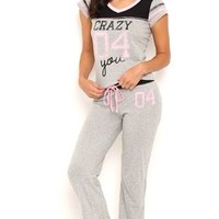 2pc Pajama Set Crazy 04 You Screen with 04 Pant