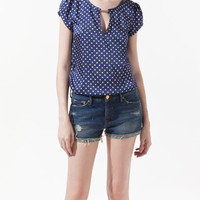 POLKA DOT PRINTED BLOUSE - Shirts - Woman - ZARA United States