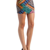 patchwork-tribal-skirt BLUEORG - GoJane.com