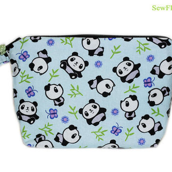 NEW Panda Bear Makeup Pouch | Makeup Bag | Toiletry Bag | Cosmetic Case | Jewelry Storage