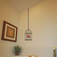 Wall Decal - Simply Cute Birdcage - Vinyl Wall Decal Art