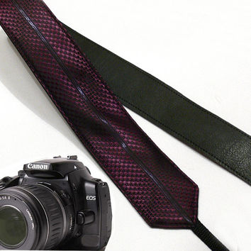 Purple camera strap.  DSLR Camera Strap. Camera accessories. Nikon  Canon camera strap.