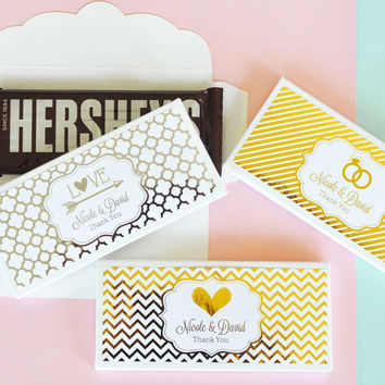 Personalized Metallic Foil Candy Wrapper Covers