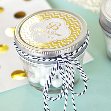Personalized Metallic Small 4 oz Mason Jars