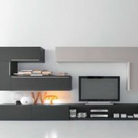 SECTIONAL TV WALL SYSTEM CF66 | PRESOTTO INDUSTRIE MOBILI