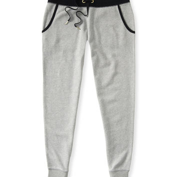 Aeropostale Womens Solid Jogger Sweat Pants - Gray,