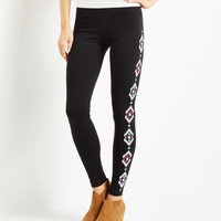 Aeropostale  Womens Invite Only Diamond Leggings - Black