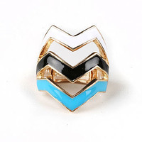Tripe Lined Ring | Trendy Accessories at Pink Ice