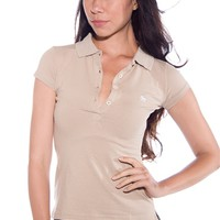 Back to School Polo Shirt - Taupe