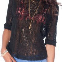 Luce Laced Top Available at ruched-boutique.com