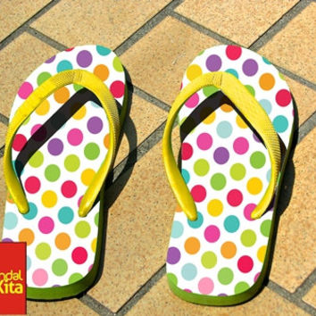 Flip Flops - Polkadot full color