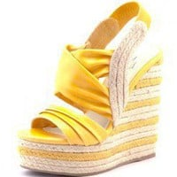ELASTIC ESPADRILLE WEDGE SANDALS @ KiwiLook fashion