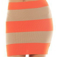 COLORBLOCK BODYCON SKIRT @ KiwiLook fashion