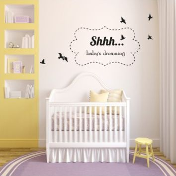 Shh babies dreaming - G Direct Wall Stickers
