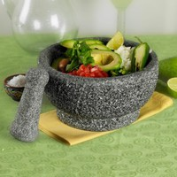 8-1/2 inch Natural Stone Mortar and Pestle by Casa Maria - Tabletops Unlimited