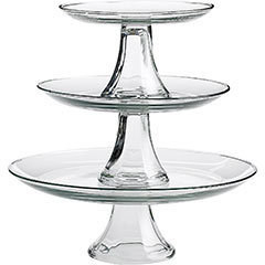 Tiered Glass Platters