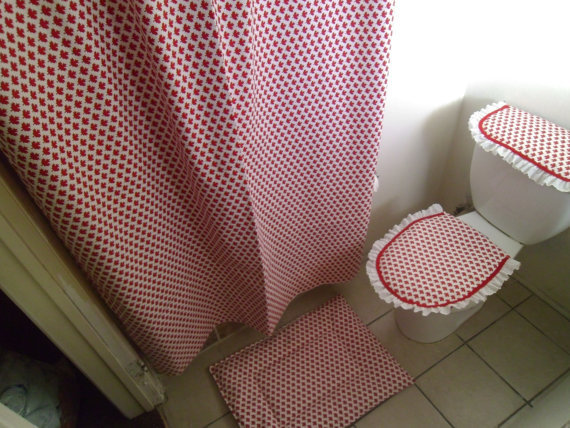 canada day sale bathroom set of 4 from loveyewdesigns on