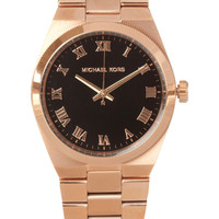 Michael Kors | Channing's rose gold-tone stainless steel watch | NET-A-PORTER.COM