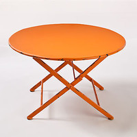 Orange Metal Folding Coffee Table