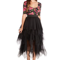 Laud and Clear Skirt in Noir