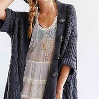 ASH RAIN + OAK Cable-Knit Cardigan - Urban Outfitters