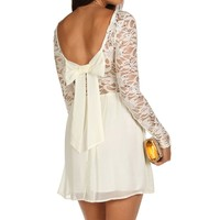 Ivory Sequin Chiffon Dress