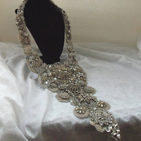 Amazing Wedding Necklace, neck piece, bridal, special events, red carpet ready accessory,  Made to order item.