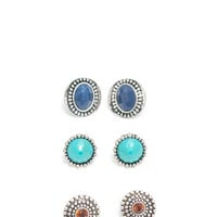 Boho Babe Faux Jewel Earring Set