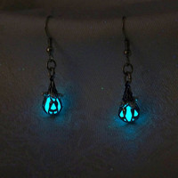 Mermaid's Magic - Ocean Blue Earrings - Glow in the Dark - Set of Two Dangle Style Earrings