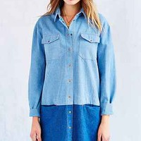 Les Expatries Denim Shift Dress - Urban Outfitters