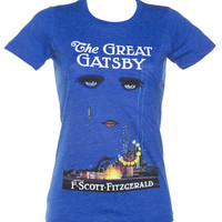 Ladies Blue F. Scott Fitzgerald The Great Gatsby Novel T-Shirt From Out Of Print : TruffleShuffle.com