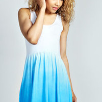Petite Bella Dip Dye Skater Dress