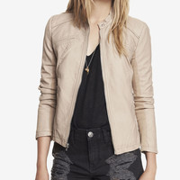 (MINUS THE) LEATHER SEAMED MOTO JACKET from EXPRESS