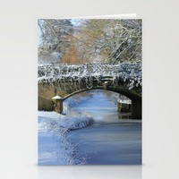 Winter at Lady's Bridge Stationery Cards by John Dunbar | Society6